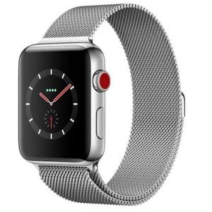 Milanese Mesh Loop Band For Apple Watch Silver